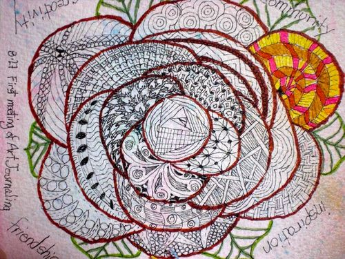 Rose tangle bw