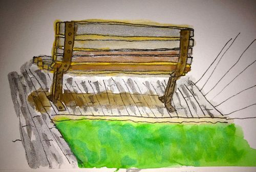Dockside bench