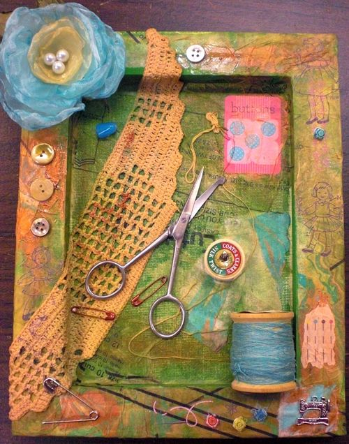 Sewing shadow box