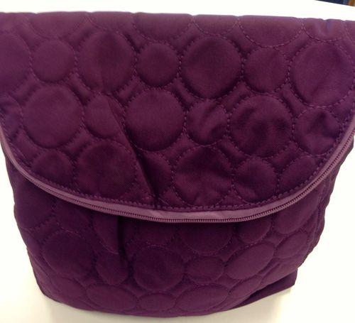 Plum purse front