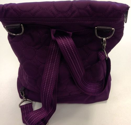 Plum purse back