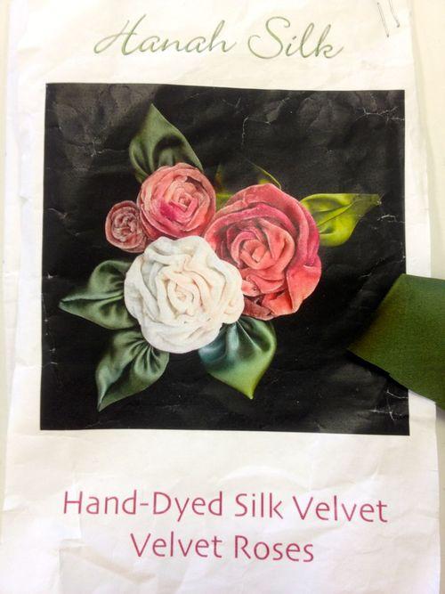 Silk velvet roses