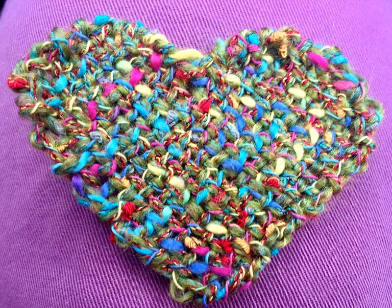 Flower tweed heart