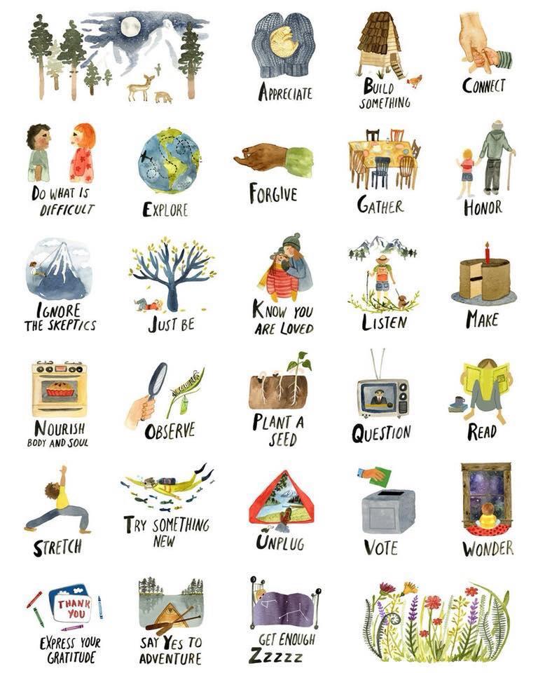 Life alphabet