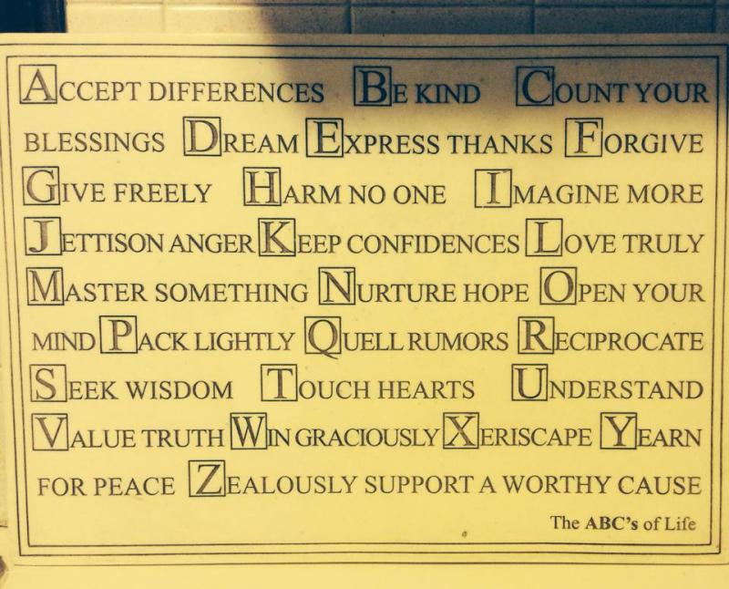 Alphabet sayings